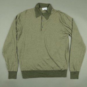 Drake's x Bullock and Jones SF Green Wool Sweater